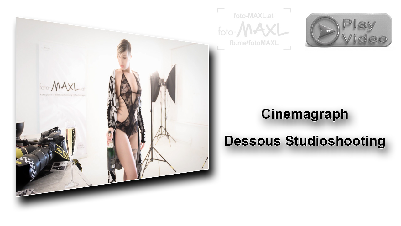 Cinemagraph Dessous Photoshooting im Fotostudio